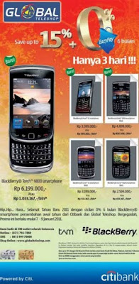 Promo BlackBerry Torch 9800, BB Curve, BB Pearl and BB Bold With
