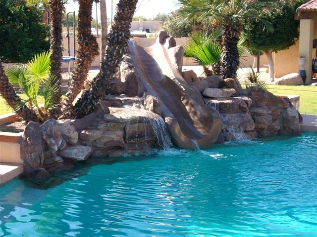 Cascadas con deslisantes slides cascadas artificiales for Construccion de cascadas artificiales