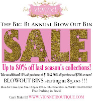 Big sale at Vionnet Boutique in L.A.! featured on Shopalicious.com