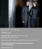 Hugo Boss Sample Sale in L.A., 9/16-9/18! featured on Shopalicious.com