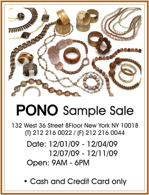 Pono accessories sample sale in nyc shopalicious for 100 church street 8th floor new york ny 10007
