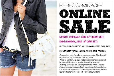 Shop the Rebecca Minkoff online sale! 6/10-6/14! featured on Shopalicious.com