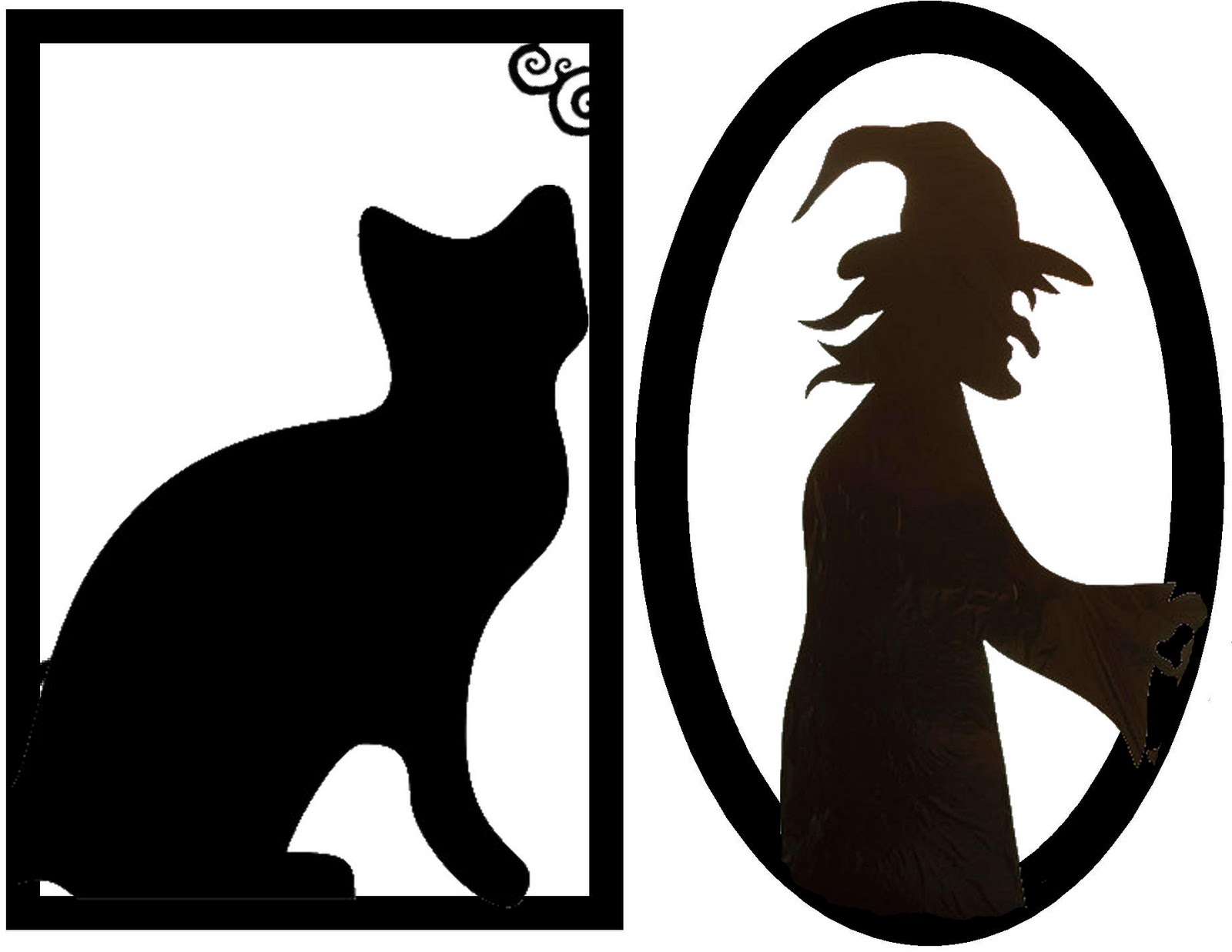 Framed Creepy Silhouette Decorations (FREE Halloween - Printable Halloween Decorations