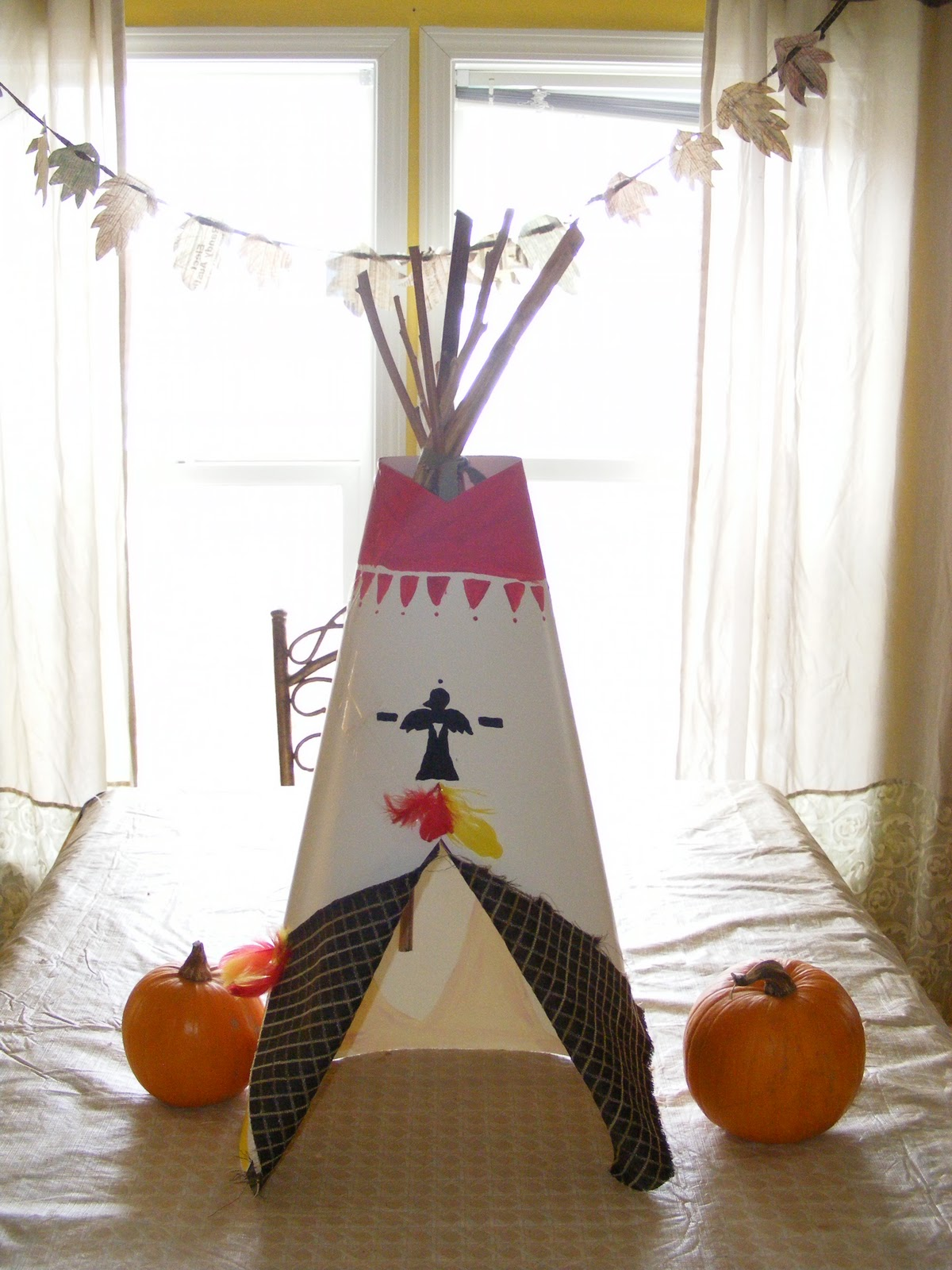 Easy tee pee table centerpiece everyday mom ideas