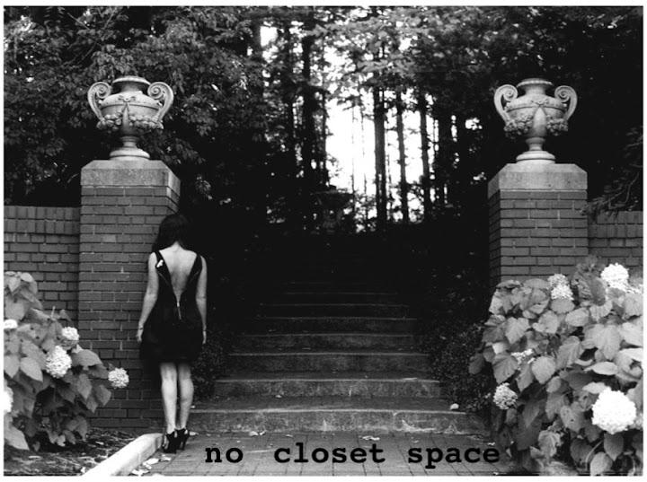 no closet space