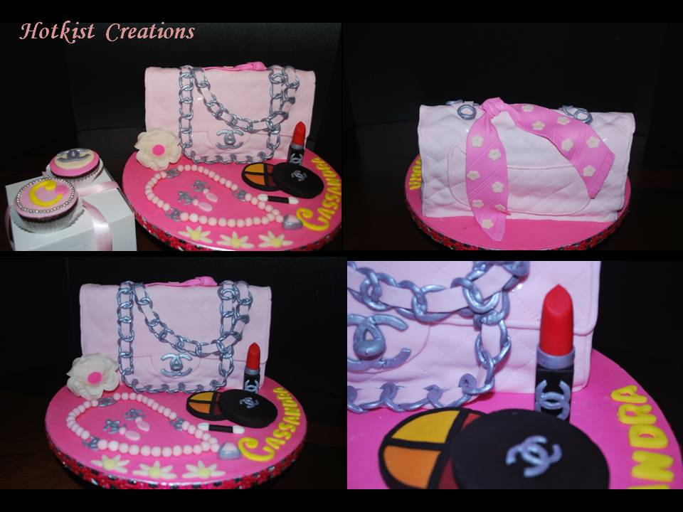 Pink Chanel Purse Cake Black Chanel Purse Cake