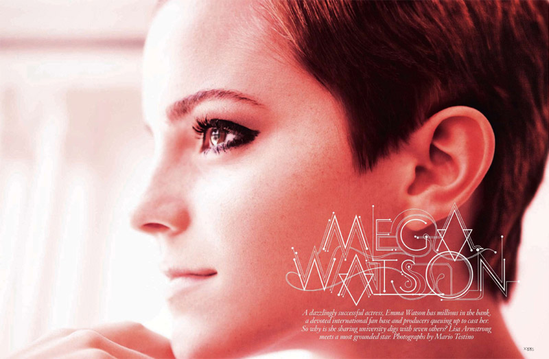 emma watson vogue us. Emma Watson for Vogue December