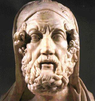 Homero , ( siglo IX-VIII a.c ).