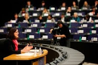 Cecilia Malmström in her Hearing, 19/01/10 (Photo: European Parliament)