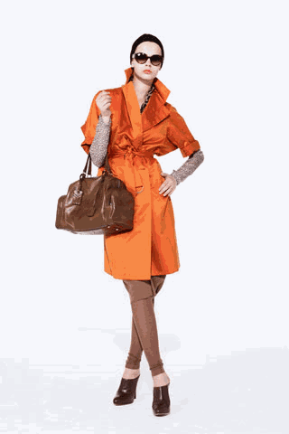 [ysl+orange+trench+outfit]