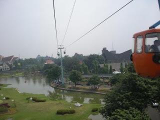 Miniatur Indonesia di lihat dari Kereta Gantung