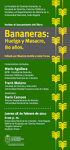 """Invitación al lanzamiento del libro """"Bananeras: huelga y masacre, 80 años"""""""