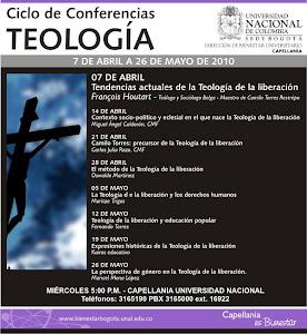 CICLO DE CONFERENCIAS DE TEOLOGÍA - 7 DE ABRIL A 26 DE MAYO