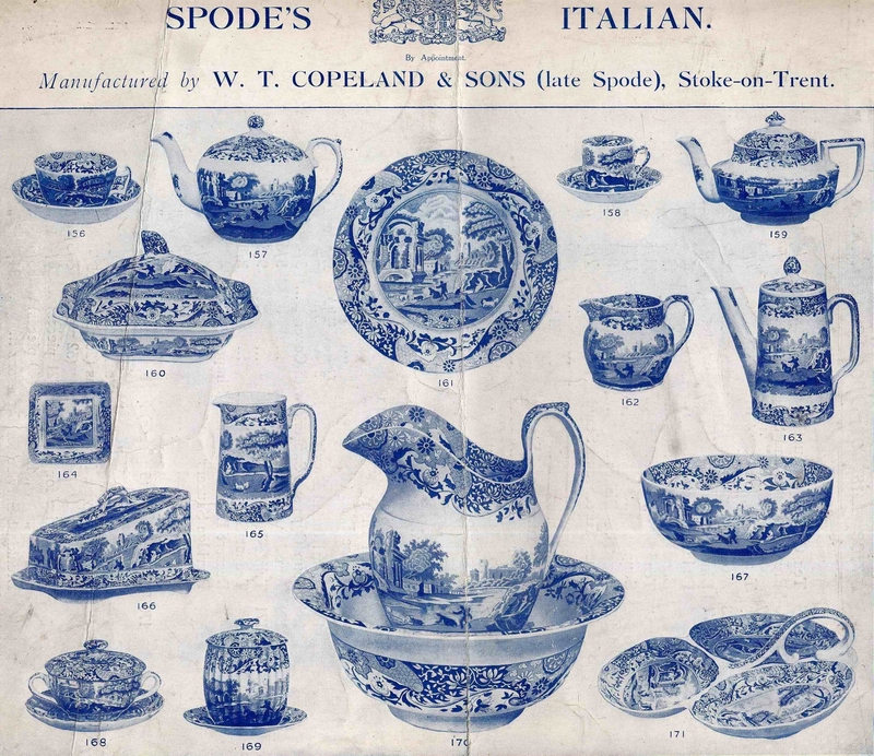 Spode and Italian Pattern  sc 1 st  Spode History : spode blue willow dinnerware - pezcame.com