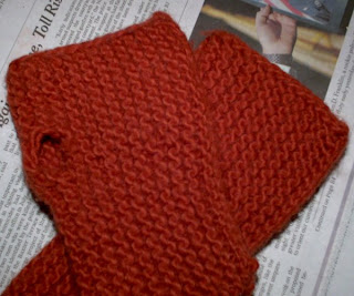 Fingerless mitts from Weekend Knitting