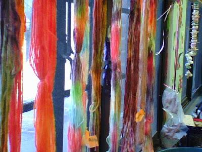 Koolaid Hand Painted Yarns by my school age art prodigies