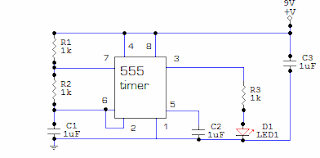 555 led flasher circuit