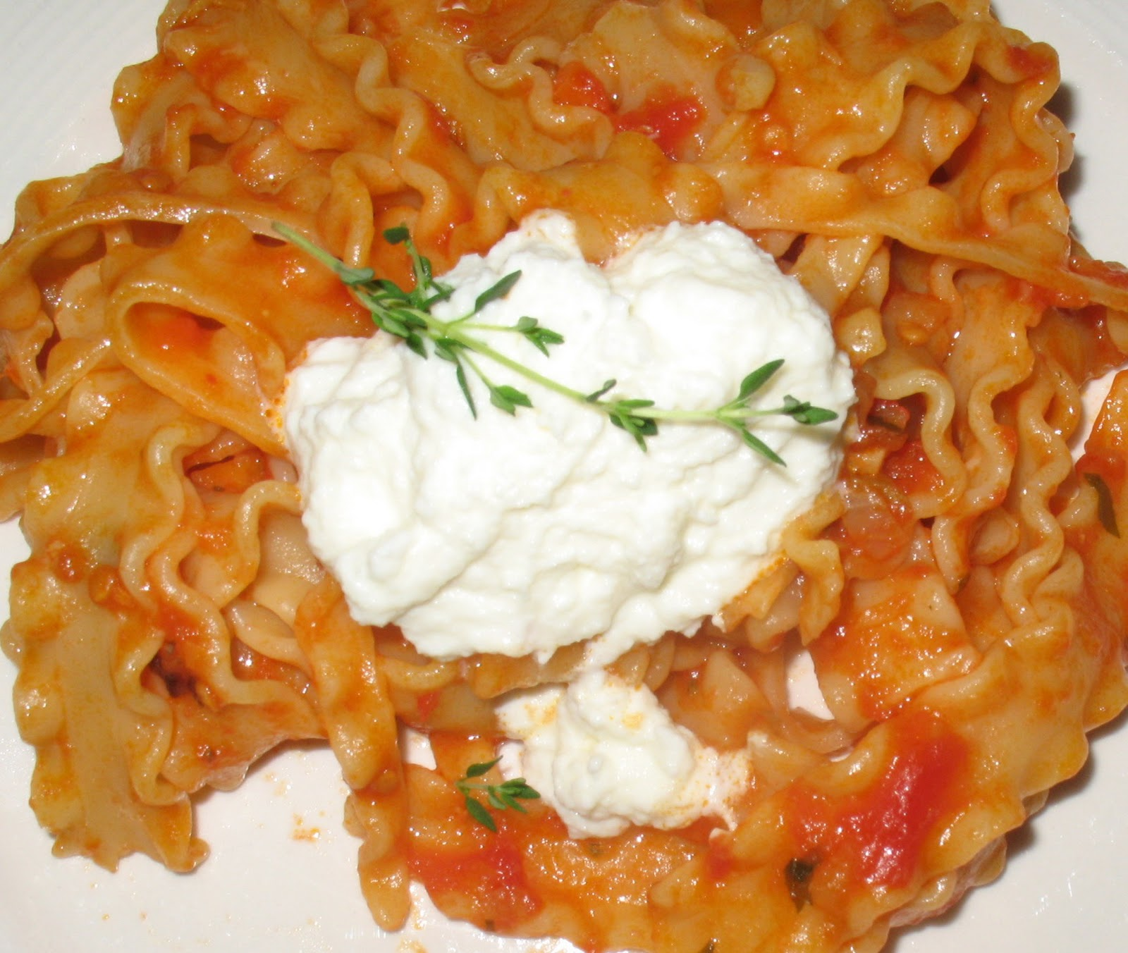 Anna's Table: Mafalda Pasta with Ricotta Cheese