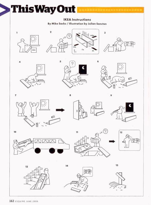 House of Mystery: Le istruzioni di montaggio dei mobili Ikea