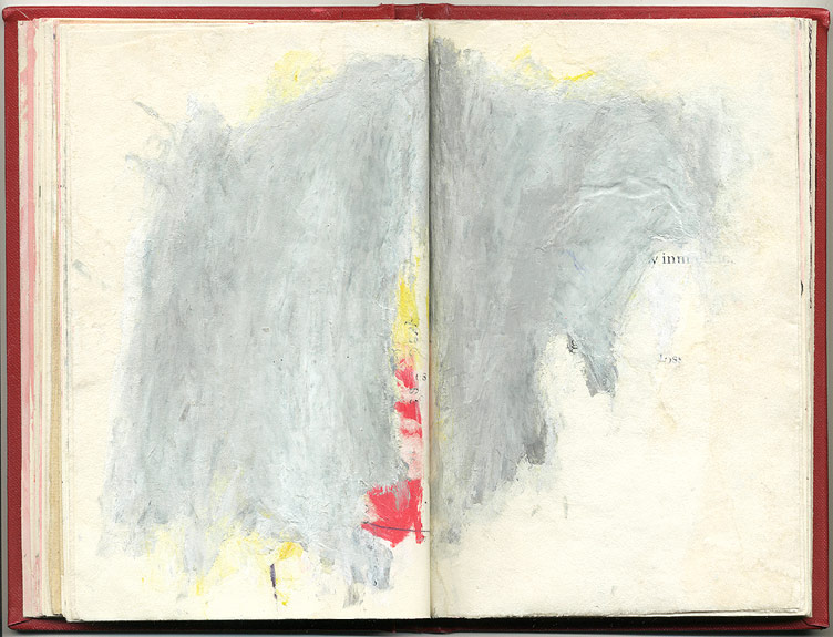 loss, And Other Observations, 2007. pen, acrylic & collage on altered book.