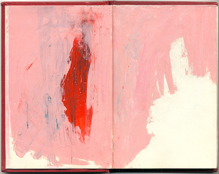 (red), And Other Observations, 2007. pen, acrylic & collage on altered book.