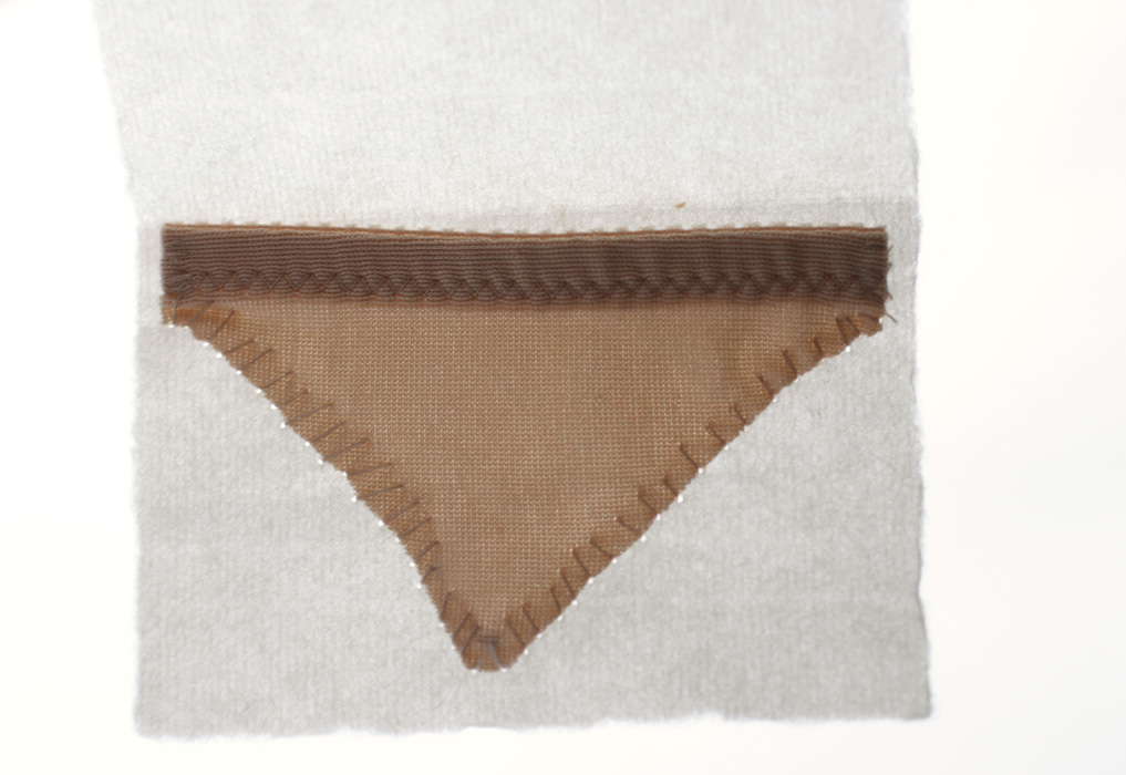 Nude [2009], Little Undies series, ongoing. fabric & thread.