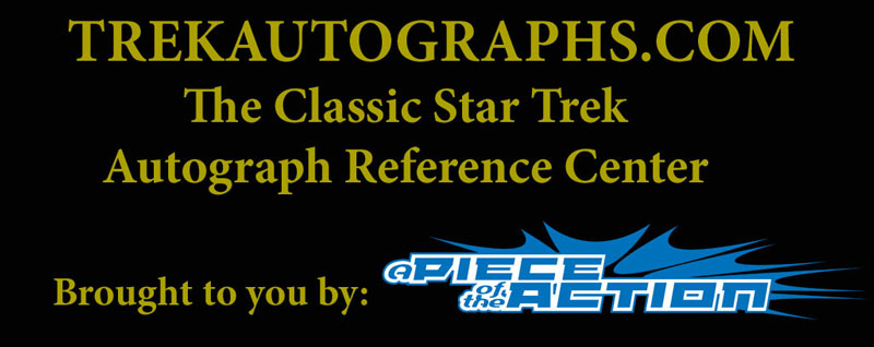 The Classic Star Trek Autograph Reference Center!