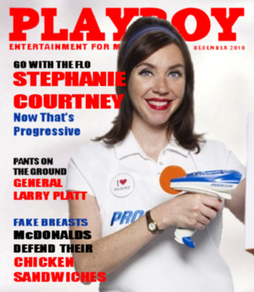 Flo on the cover of Playboy