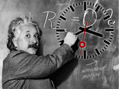 Einstein demonstrates how his relatives affect time