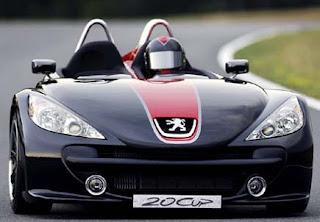 Peugeot 20Cup 3 wheeler car concept