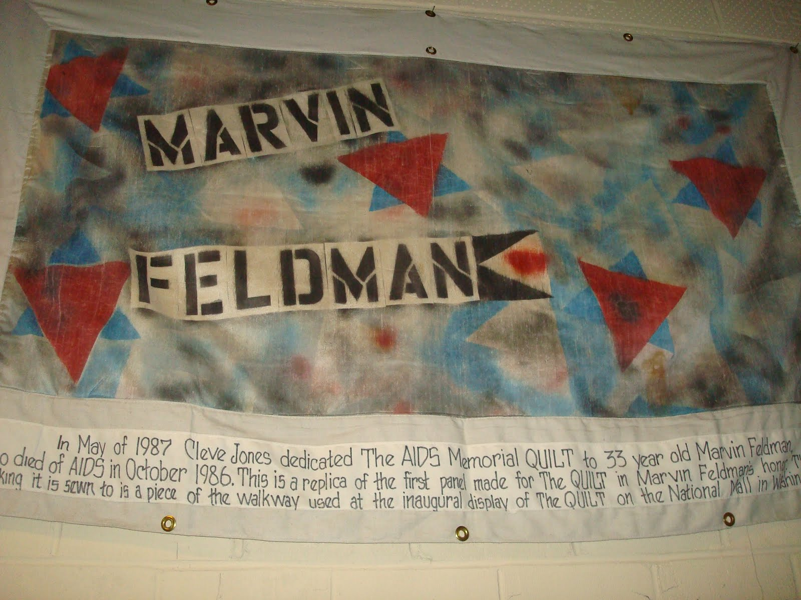 Reflections from our Jewish Civil Rights Journey: Names Project ... : names project quilt panels - Adamdwight.com