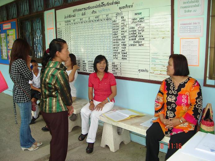 ผู้ปกครองนักเรียนได้ร่วมกันปรึกษาหารือกับคณะครูในวันประชุมผู้ปกครอง