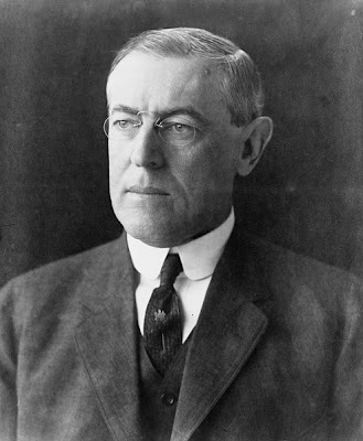 Woodrow Wilson hoop spring pince nez