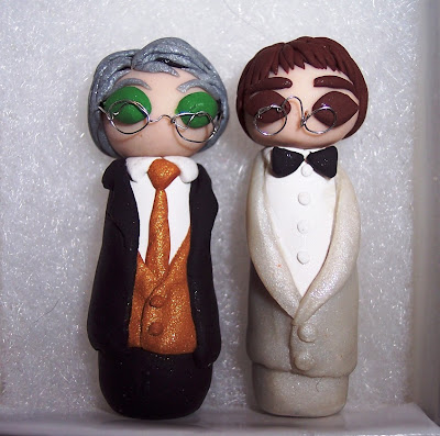 pince nez cake topper wedding