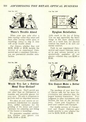 pince nez ad advertisement vintage