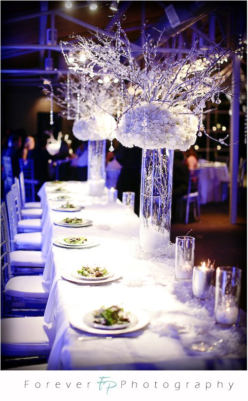 Winter Centerpieces For Tables : Winter wedding table decorations