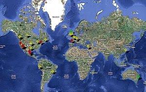 Vea el mapa interactivo sobre el avance de la Gripe Porcina o Gripe Mexicana en todo El Mundo