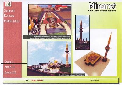 Rancangan Minaret Masjid Raya Pekanbaru