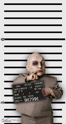 Mini-Me, Photoshopped Celebrity Mugshots