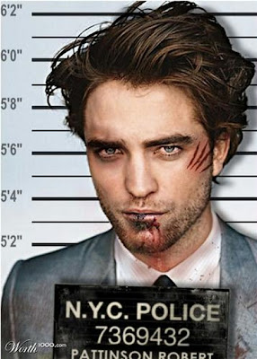Robert-Pattinson Photoshopped Celebrity Mugshots
