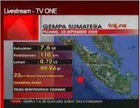 Gempa 7,6 SR Goyang Sumbar Padang Pariaman