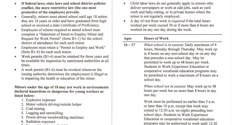 cerritos high school college info career work permit forms