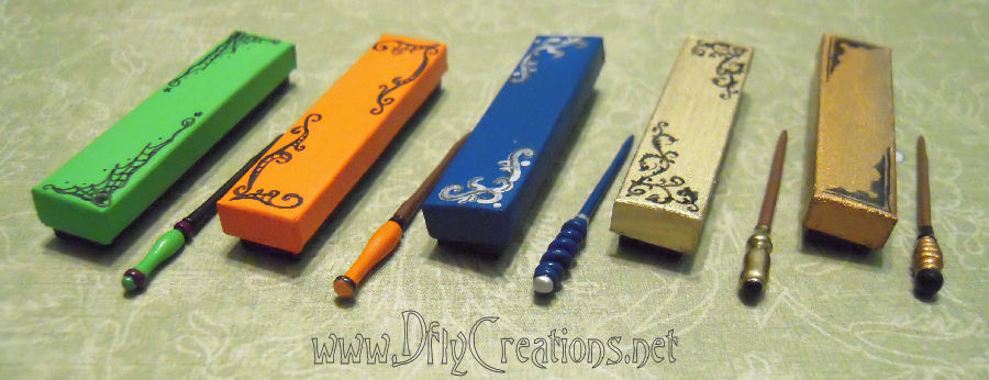 Dollhouse mini 39 s by dfly creations new wands boxes for etsy for Wand designs