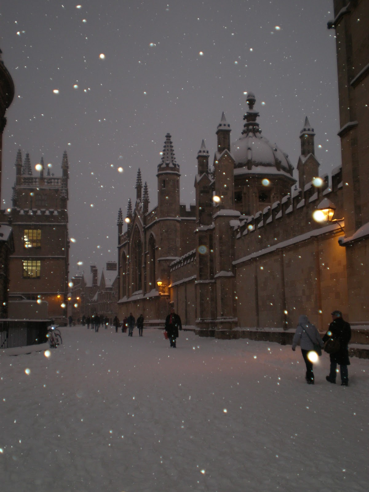 kate wells  oxford under snow