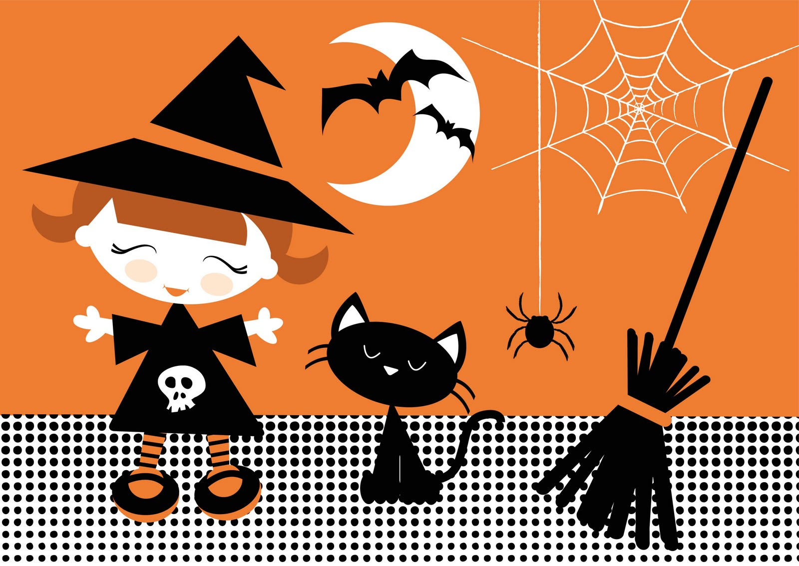 Cute Halloween Spiders Halloween illustrations ready!