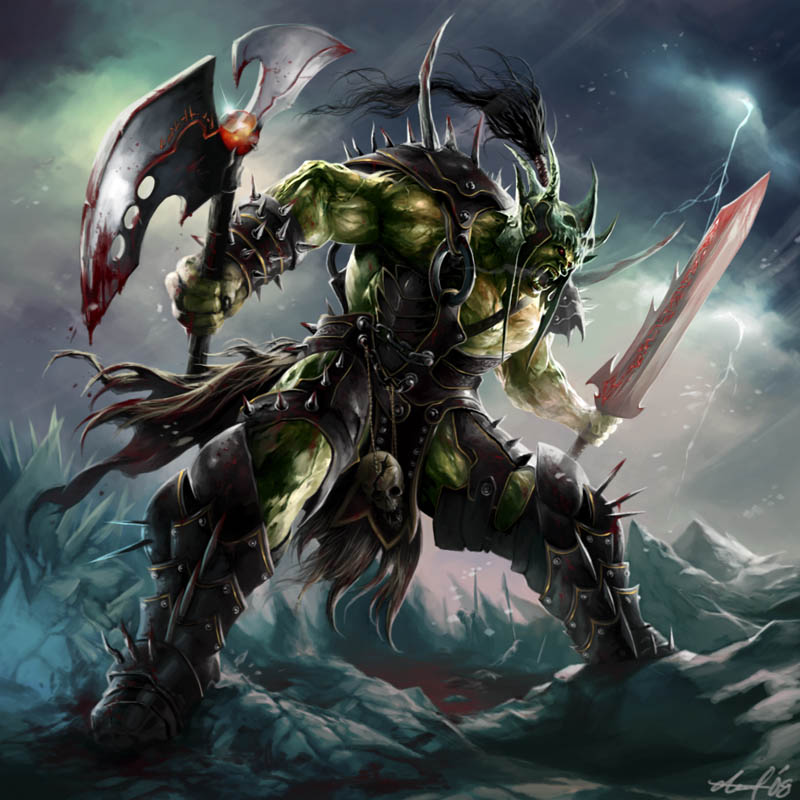 Items Tienda WOW_fanart__Orc_Death_Knight_by_dwinbotp