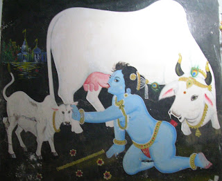 Benares Krishna Painting