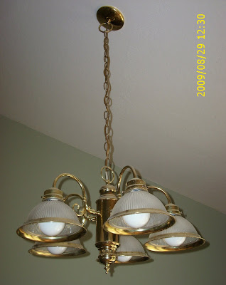Update A Brass Kitchen Light Fixture With Paint A Little Tipsy - Update kitchen lighting