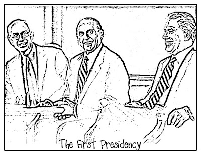 LDS First Presidency Coloring Page