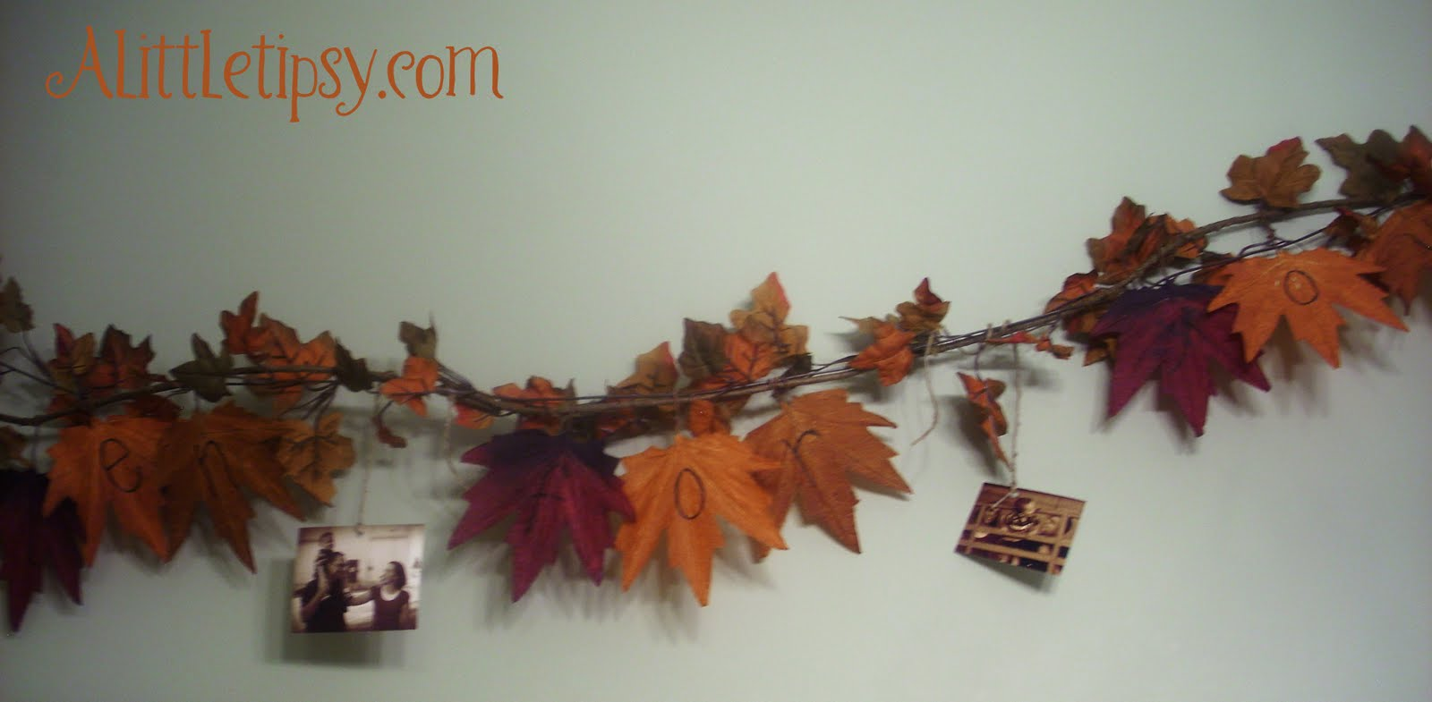 fall garland a little tipsy